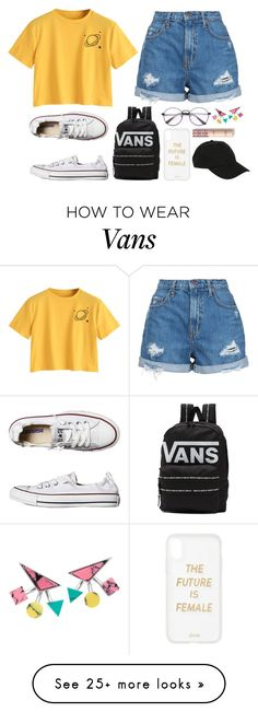 """IvE bEen Very InActiVE"" by chilltfout on Polyvore featuring Nobody Denim, Converse, Vans, Sonix and Hot Topic"
