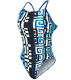 Nike swim suit. I love the open back on these so you don't get a bad tan line- swimmer tip!