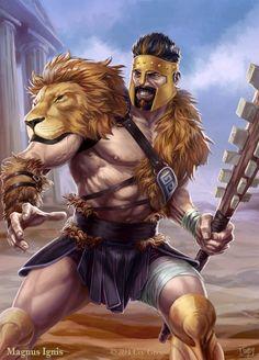 Magnus Ignis - Hercules evolved by PeterLumby.deviantart.com
