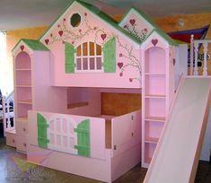 Fairy Bedroom, Room Decor Bedroom, Home Bedroom, Girls Bedroom, Girls Bunk Beds, Kid Beds, Cool Beds For Kids, Creative Kids Rooms, Princess Bedrooms