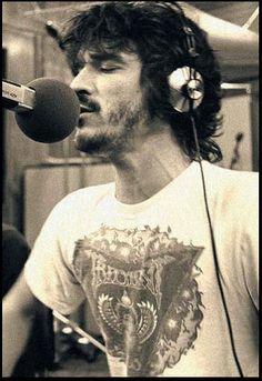 Rick Danko in the studio