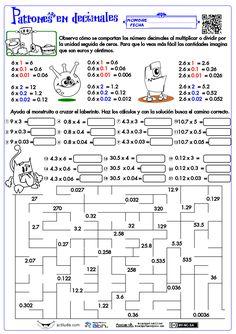 Patrones con decimales 2