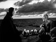 """""""O Sétimo Selo"""" (Det sjunde inseglet), Suécia, 1956, dirigido por Ingmar Bergman."""