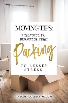 Whether you're moving across town or across the country, there are certain things you can do to alleviate some of the stress and make things easier for you. I'm sharing 7 simple moving tips on Moving List, Moving House Tips, Moving Checklist, Moving Home, Moving Day, Moving Hacks, Moving Stress, Packing To Move, Moving Packing Tips