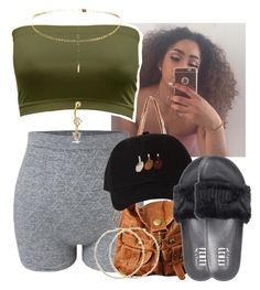 """✨✨✨"" by saucinonyou999 ❤ liked on Polyvore featuring Forever 21, Puma and Bling Jewelry"