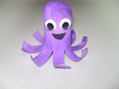 Use an old TP roll w/ TP stuffed in one end, purple paint, and accessories and you've got an octopus!