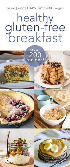 I've got all the healthy gluten-free breakfasts you'll ever need right here. Paleo, keto, GAPS, and vegan! Gluten Free Recipes For Breakfast, Gluten Free Breakfasts, Healthy Breakfast Recipes, Paleo Recipes, Real Food Recipes, Cooking Recipes, Healthy Breakfasts, Eating Healthy, Breakfast Ideas