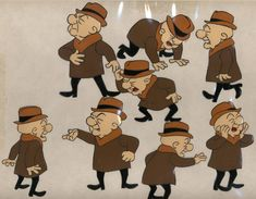 Cel Drawings for UPA's Mr Magoo