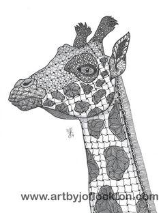 Tangled Giraffe, original art, $19.25