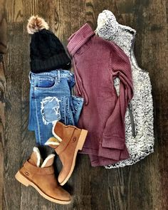 Add a pair of nice cordaroy pants to this instead of torn jeans, and it would be perfect!