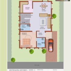 South Facing Home Plans Lovely south Facing House Plan Luxury Vakil Hosur Hills Floor Plans – South Facing House, Duplex House Design, House Plans, Floor Plans, Flooring, How To Plan, Luxury, Building, Inspiration