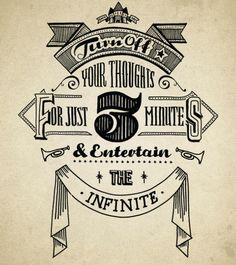 entertain the infinite / by Jon May