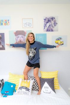 """Pin de NaToca.com.br Paula Sack, apresentadora do """"Combate"""", no quarto do filho, by Milk Studio (foto: Sambacine)"""