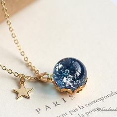 硝子の☆Celestial globe〈天球儀〉ネックレス/宇宙