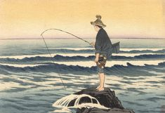 Image result for japanese sea woodblock