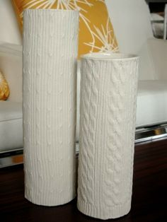 cable knit vase