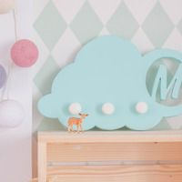 Percha nube personalizada con inicial