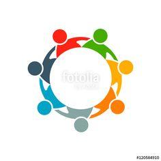 People Group Collaboration Logo. Vector graphic design illustra