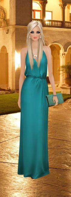 Covet Fashion: formal look Covet Fashion, Fashion Art, Fashion Looks, Dress Sketches, Fashion Design Sketches, Formal Looks, Barbie Dress, Fashion Pictures, Elegant Dresses