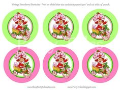 Strawberry Shortcake birthday party  favors tags by ShopPartyTales, $5.00