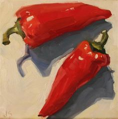 "Daily Paintworks - ""Bold Peppers"" - Original Fine Art for Sale - © Jamie Stevens"