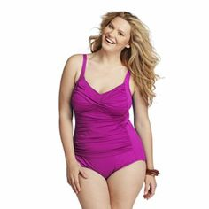 Croft and Barrow Fit For You Tummy Slimmer One-Piece Swimsuit - Women's Plus #Kohls