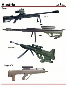 Австрия: Steyr HS-50, AMR, IWS-2000, ACR