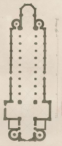 Grundriss des Wormser Doms 1854 - Wormser Dom – Wikipedia