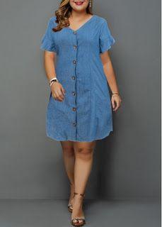 Cheap plus size dresses Plus Size Dresses online for sale Plus Size Shirt Dress, Denim Shirt Dress, Plus Size Shirts, Plus Size Maxi Dresses, Dresses For Sale, Plus Size Outfits, Dresses Online, Casual Dresses, Fashion Dresses