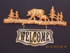 Bears Relief Carving of Bears on Log by TheWoodGrainGallery, $119.00
