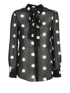 BOUTIQUE MOSCHINO Boutique Moschino Polka Dot Blouse. #boutiquemoschino #cloth #