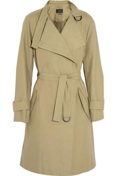 Cotton and linen-blend trench coat #jacket #covetme #isabelmarant