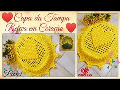 💛 Capa da Tampa do Vaso , Relevo em Coração. Parte 1/2 . Por Vanessa Marcondes. - YouTube Crochet Diy, Crochet Hats, Baby Sheep, Crochet Videos, Crochet Earrings, Crochet Patterns, Rugs, Knitting, 1