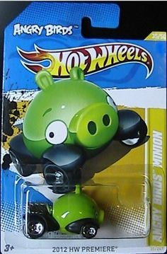 Hot Wheels 2012-035 HW Premiere ANGRY BIRDS MINION Green Piggy 1:64 scale by Mattel. $9.95