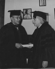 Albert Einstein and Horace Mann Bond ( Julian Bond's Dad).....  Many thanks to the Bond family for sharing these photos with Akilah....