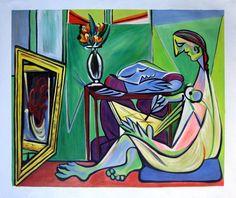 Rep. Pablo Picasso 76 x 91cm peinture huile toile art décoration murale mod303   Art, antiquités, Art du XXe, contemporain, Peintures   eBay!