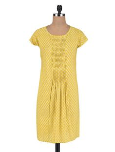 Buy Vastra Vinod Yellow Cotton Kurta Online, , LimeRoad