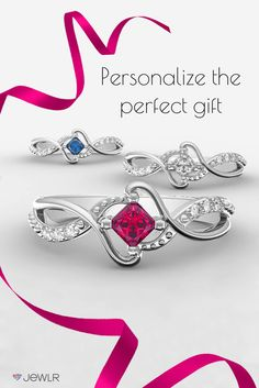 Our Espiral Princess Cut promise ring is so stunningly unique, it's the gift every girl will fall in love with. Personalize in silver, white gold, rose gold, yellow gold with your choice of gemstones and a sentimental engraving. With free shipping, free returns, free resizing and free gift packaging on all orders from Jewlr.com, it's the perfect place to shop for custom-made, one-of-a-kind jewelry.