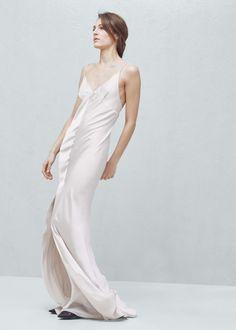 Premium - cut-out silk dress -  Women | MANGO USA PREMIUM - Cut-out silk dress REF. 61087021 - SILKA $249.99$123.99 (-50%)