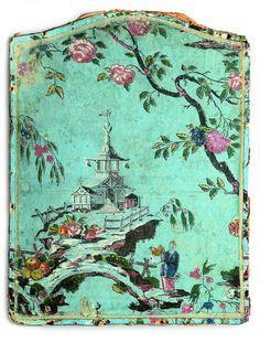 chinoiserie sample of wallpaper Louis XV. Et Wallpaper, Chinoiserie Wallpaper, Chinoiserie Chic, Chinese Wallpaper, Antique Wallpaper, Decoupage, Asian Decor, Asian Art, Dollhouse Miniatures