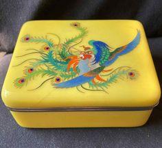 Phoenix Design, Cigarette Case, Sunnies, Appreciation, Vintage Items, Enamel, Cases, Packaging, Yellow