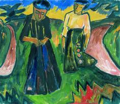 Girlfriends (sisters), 1914 - Karl Schmidt-Rottluff (1884–1976)