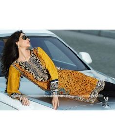 Embroidered Lawn Kurtis 2015 Online By Designer HSY