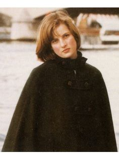 A teenage Diana Spencer in a black wool cape. Do you ever imagine her life uncrossed by Prince Charles? Enjoy RUSHWORLD boards, DIANA PRINCESS OF WALES EXTENSIVE PHOTO ARCHIVE and UNPREDICTABLE WOMEN HAUTE COUTURE. Follow RUSHWORLD! We're on the hunt for everything you'll love! #PrincessDiana #LadyDiana