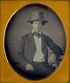 "1/6 Daguerreotype ""Young Man & His Hat"" by Mirror Image Gallery, via Flickr"