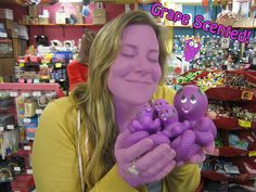 Grapey the Octopus is Grape Scented!    Oh Archie McPhee, I love you! Marry me?