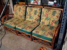 a good sofa for a tiki room.  Retro bamboo!