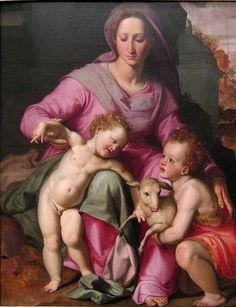 Santi di Tito Madonna and child with Saint John the Baptist #TuscanyAgriturismoGiratola