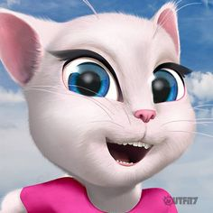 Today is Power of a Smile Day. A simple smile can change the world! It's contagious. You should try it too, it works like a charm ;-) Now smiiillle :-)  xo, Talking Angela #TalkingAngela #MyTalkingAngela #LittleKitties