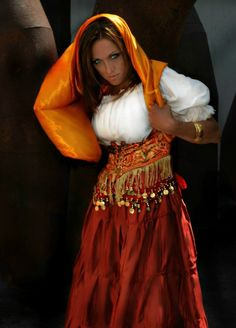 DIY+Wench+Costume | Fabrics Renaissance Gypsy Belly Dance Turkish Choli Wench Costume ...